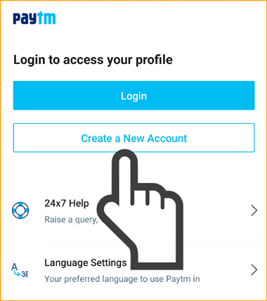 Tap on Create a New Account