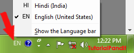 Select Your Input Language to Type in Hindi