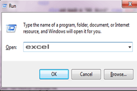 Windows RUN Command Searching Excel Programs