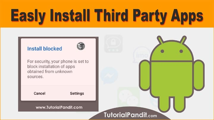 How to Install Third Party Source Apps in Android Phone in Hindi