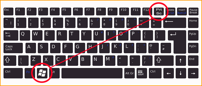 Press Windows Logo Key + PrtScr Key to Take Screensho in Computer