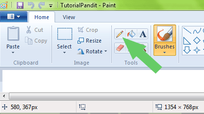 selecting-pencil-too-in-ms-paint