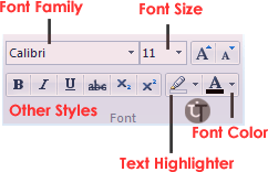 wordpad-home-tab-font-group