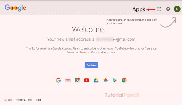 google-account-welcome-screen