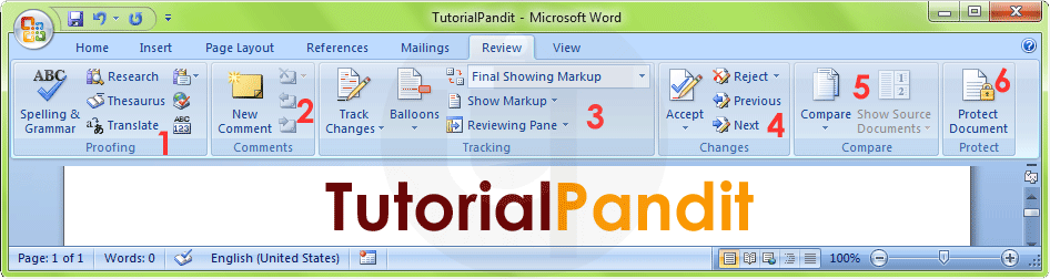 ms-word-review-tab