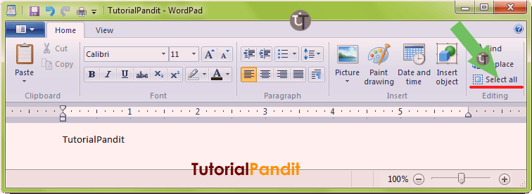 wordpad-showing-select-all-command