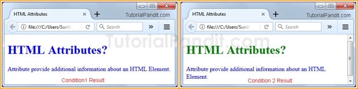 HTML Attribute Example in Hindi