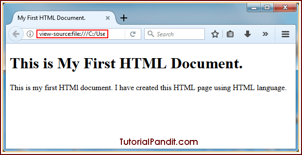 HTML Document in Browser