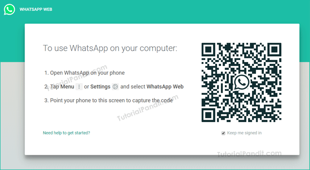 whatsapp web homepag