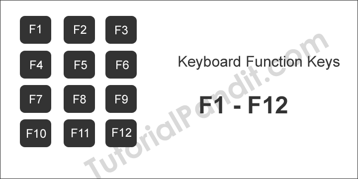 all function keys f1 to f12 in hindi