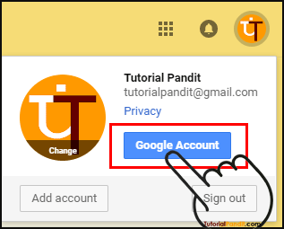 Google Account Button