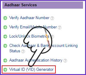 Aadhaar Virtual ID VID Generator