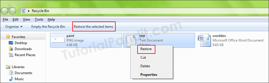 Restore Files from Recycle Bin in Hindi