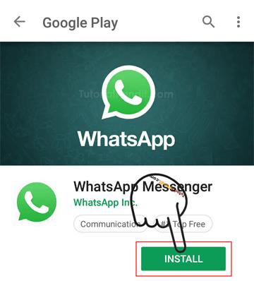 Install WhatsApp in Hindi
