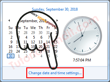 Change date and time settings...