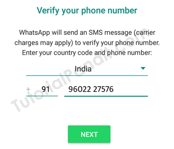 Verity Your Number with WhatsApp in Hindi