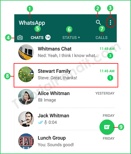 WhatsApp Layout in Hindi