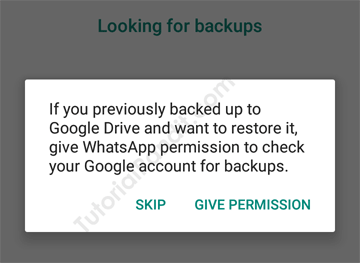 WhatsApp Checking for Backup