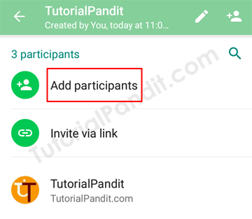Add New Participants in WhatsApp Group