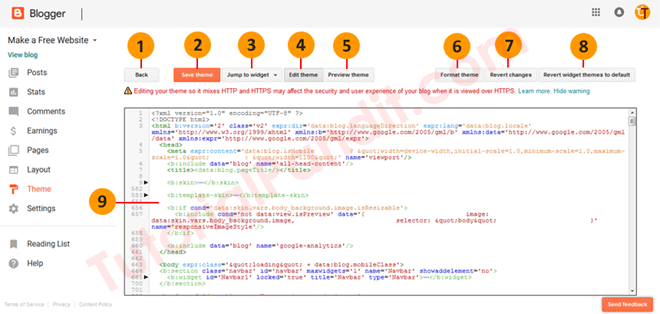 Blogger Blog HTML Editor