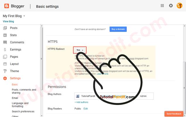 Enable Blogger Blog HTTPS