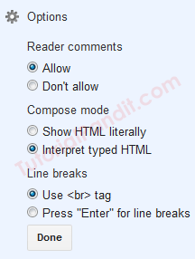 Blogger Blog Page All Settings