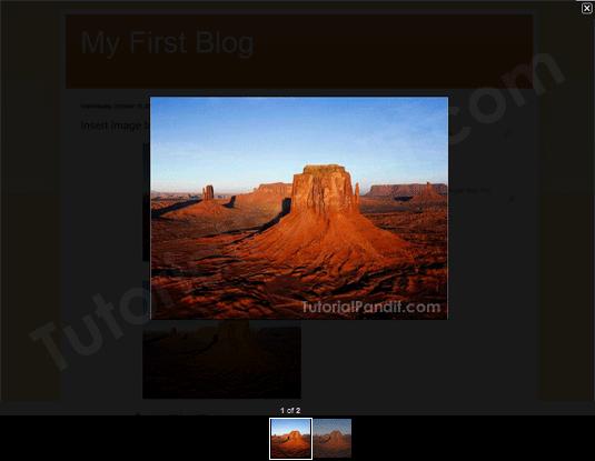 Blogger Blog Post Image in Lightbox