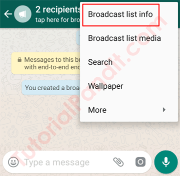 Broadcast List Info in Hindi