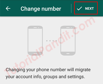 WhatsApp Change Number Screen