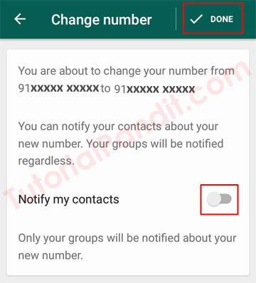 WhatsApp Number Changed and Done