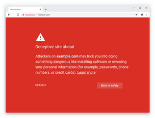 Google Chrome Unsecure Webiste Warning