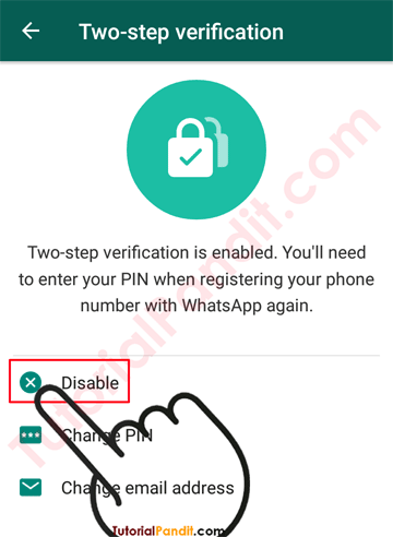 Disable Two-Step Verification