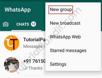 Create New WhatsApp Group