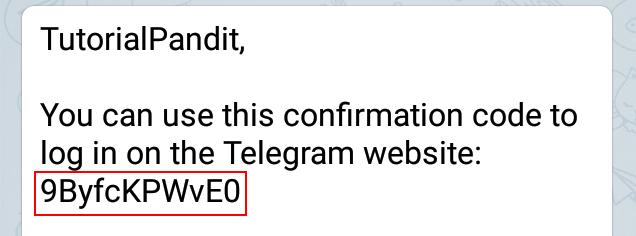 Copy Confirmation Code to Verify
