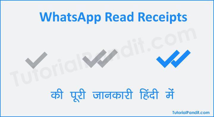 WhatsApp Read Receipts Blue Tick Hide Kaise Kare