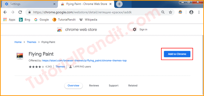 Click on Add to Chrome to Install Theme in Chrome Browser in Hindi
