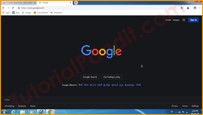 Dark Mode in Chrome Browser