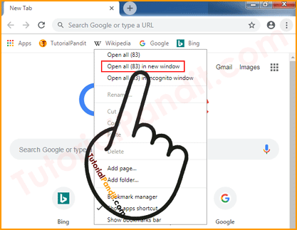 Open All Chrome Bookmarks in New Window