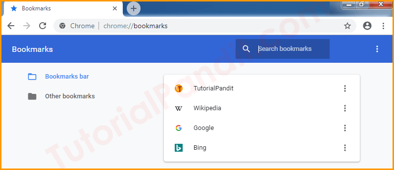 Chrome Browser Bookmarks Manager in Hindi