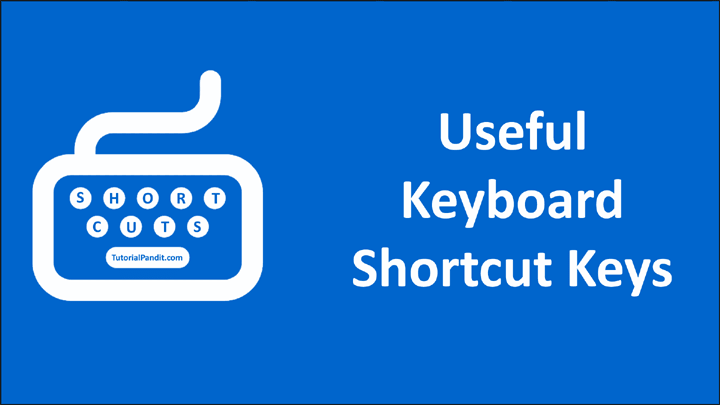 Useful Keyboard Shortcut Keys in Hindi