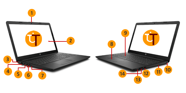 Parts of Laptop in Hindi