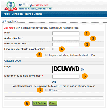 Link Aadhaar with PAN Card Form Fill This Carefully