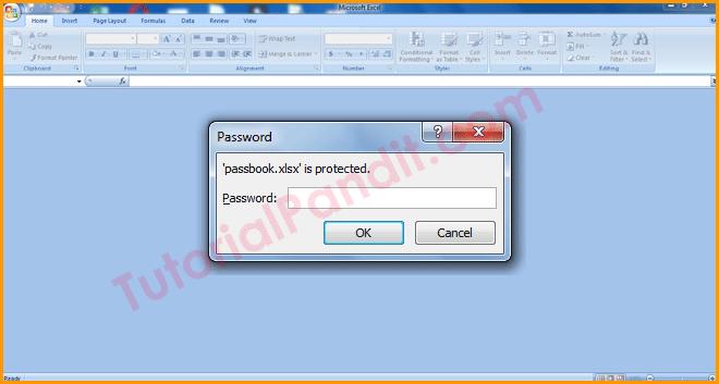 Enter Password to View Excel Workbook