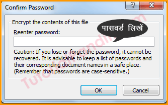Reenter Password to Protect Document