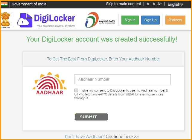 Enter Your Aadhaar Number to Authenticate Yourself