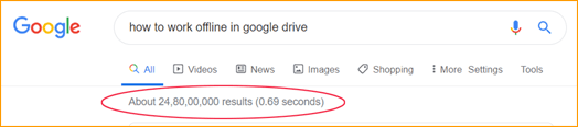 Number of Google Search Results