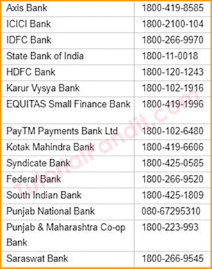 FASTag Seller Banks List