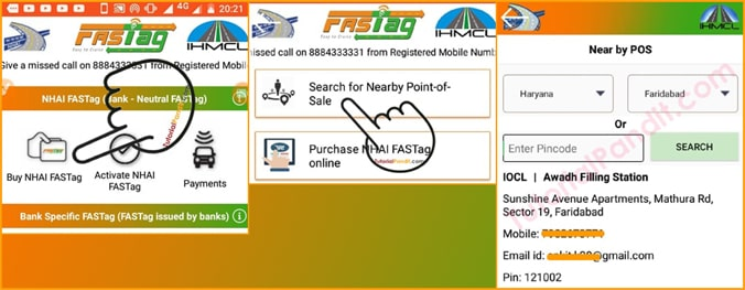 Search Point of Sale to Buy FASTag from NHAI