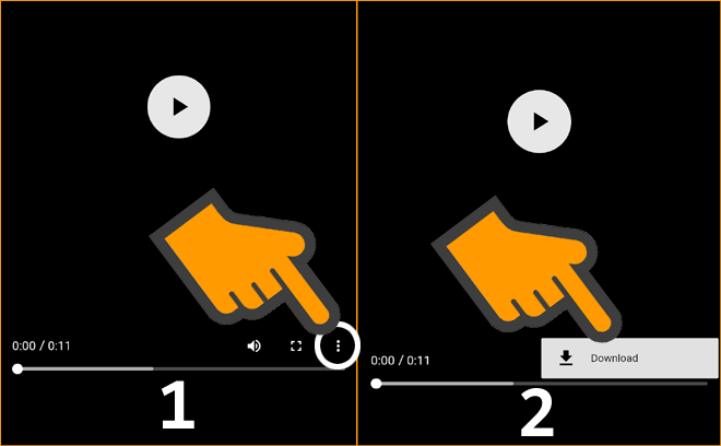 Click on Three Dots than Download to Download TikTok Video