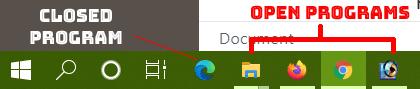 Windows Programs Status on Status Bar